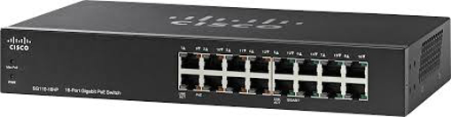 Picture of CISCO  16 Port Gigabit  SG110-16HP unmanaged