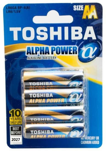 Toshiba Battery-4 Pack-LR6GA