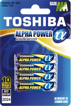 Toshiba Battery-4 Pack-LR03GA