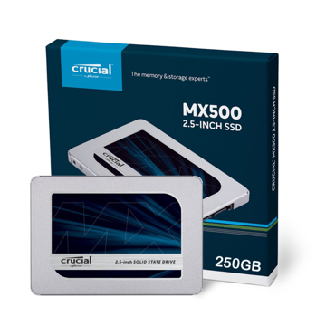 "Picture of Crucial MX500 250GB SATA 2.5"" 7mm (with 9.5mm adapter) Internal SSD"