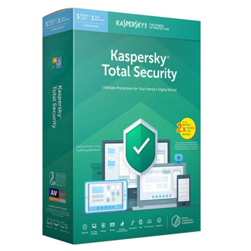Kaspersky Total  Security (3 user + 1 )Double Devices