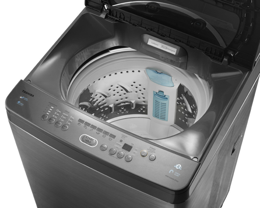 Picture of TOSHIBA Washing Machine Top Automatic 10 Kg With Pump In Silver Color AEW-E1050SUP(SS)