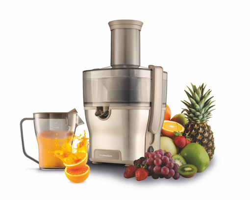 Picture of TORNADO Fruit Juicer 1500 Watt Stainless Steel in Champagne Color TJ-1500S