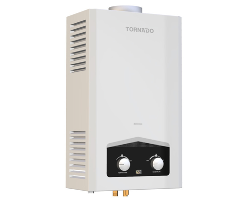 Picture of TORNADO Gas Water Heater 10 Litre Digital For Natural Gas In White Color GHM-C10BNE-W
