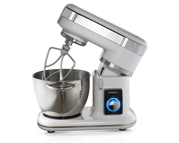 Picture of TORNADO Kitchen Machine 700 Watt with 4.5 Liter Stainless Steel Bowl In White Color SM-700