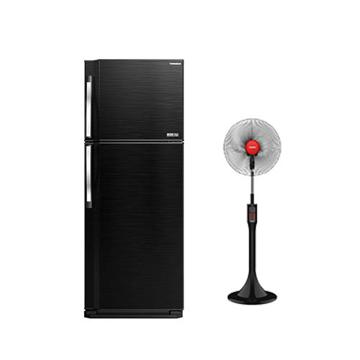 Picture of TORNADO Refrigerator No Frost 450 Liter ( RF-58T-BK ) + TORNADO Stand Fan 16 Inch Black Color ( EFS-111M )