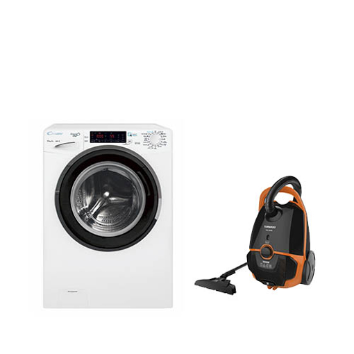 Picture of Bundle : ( CANDY Washing Machine 10 Kg GVS1310THN3-EGY ) + ( TORNADO Vacuum Cleaner TVC-1600M )