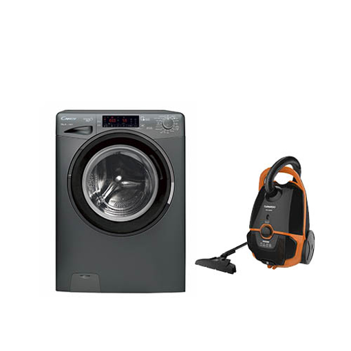 Picture of Bundle : ( CANDY Washing Machine 10 Kg GVS1310THN3R-EGY ) + ( TORNADO Vacuum Cleaner TVC-1600M )